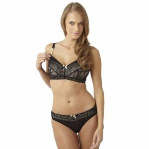 Sophie Nursing Bra in black by Panache