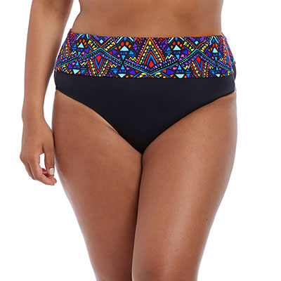 Aztec Fold Brief by Elomi in Black