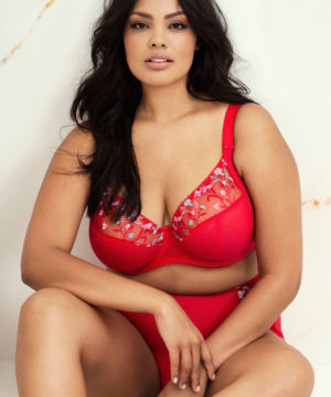 Charley Red UW Plunge Bra by Elomi