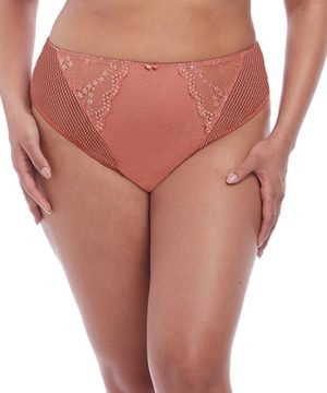 Charley Rose Gold High Leg Brief by Elomi