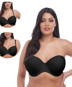 Smooth Black UW Molded Strapless Bra by Elomi