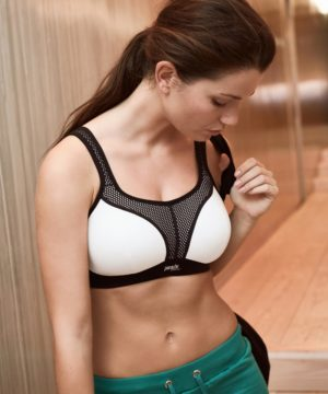 Panache Black/White Non-Wired Sports Bra