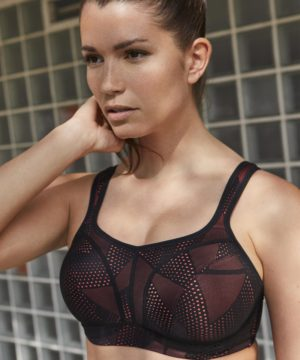 Panache Black Coral Wired Sports Bra