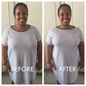 Before and after bra photo - Jamie Bond