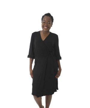 Short Modal Gown Black